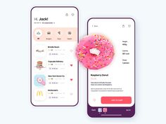 page ui design Sweet food app design UI Android App Design, Ios App Design, Web And App Design, Mobile Ui Design, Logo Design Shop, Interface Design, Interaktives Design, Iphone App Design, Dashboard Design