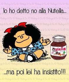 I said no Nutella ... but then she insisted !!! Happy National Nutella Day
