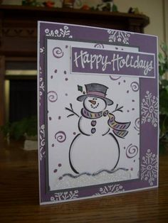 Frosty Holidays to You by stampin'nana - Cards and Paper Crafts at Splitcoaststampers