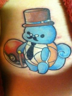 Monocle, Cane, Top Hat Fancy - Gentleman Squirtle. So cute!