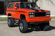 Orange Blazer lift truck