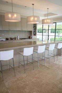 travertine floor white cabinets: travertine countertops white