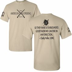 21a9572960bb1f American Uprising Chesty Puller USMC Marine Corps Patriotic Military T-shirt  Tee ebay