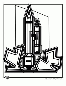 space shuttle coloring page 5 - Space Shuttle Coloring Pages 2