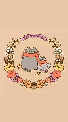 Ideas For Iphone Cute Pusheen Christmas Wallpaper images Cartoon Wallpaper, Cat Wallpaper, Kawaii Wallpaper, Cute Wallpaper Backgrounds, Wallpaper Iphone Cute, Wallpaper Wallpapers, Pastel Wallpaper, Cute Fall Wallpaper, Halloween Wallpaper