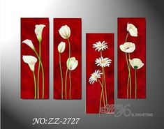 easy canvas painting ideas | Flower Group Painting on Canvas (ZZ-0276) - China Canvas Paintings ...