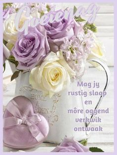 Goeie Nag, Afrikaans Quotes, Day Wishes, Floral Wreath, Night, Qoutes, English, Quotations, Floral Crown