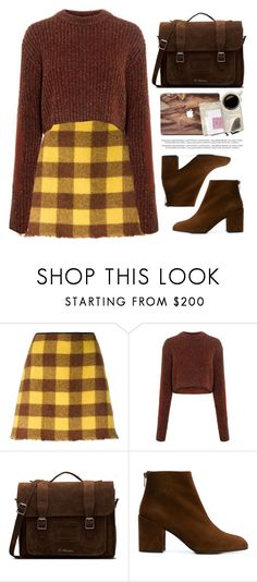 """""""Check It: Plaid"""" by fashiondiaryy ❤ liked on Polyvore featuring N°21, TIBI, Dr. Martens and Stuart Weitzman"""