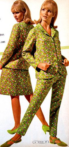 c. 1967 suits with tiny floral print
