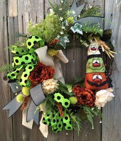 Halloween Wreath Halloween Mesh Wreath Halloween by BaBamWreaths