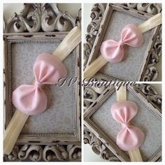 Cute bow headband.Made out of felt and fold over soft elastic.Available in any size.£1.50