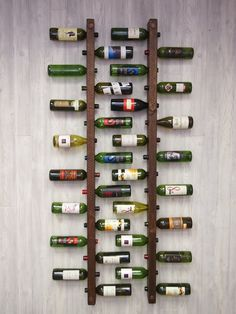 Tuscan Wine Rack 16 Bottle Ladders - Set of 2 by VetrinaDelVino on Etsy Wine Rack Wall, Wine Wall, Wine Racks, Cave A Vin Design, Regal Bad, Drywall Installation, Deco Restaurant, Wine Display, Dining Room Wall Decor