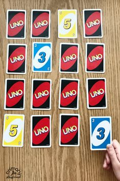 5 Math Games To Play with UNO Cards - Primary Playground Uno Card Game, Math Card Games, Uno Cards, Playing Card Games, Numbers Preschool, Preschool Games, Math Activities, Numbers Kindergarten, Lab Games