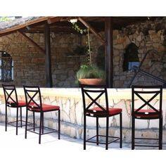 San Michelle Cast Aluminum Dining Bar Chair #BarStools #OutdoorFurniture #CozyDays
