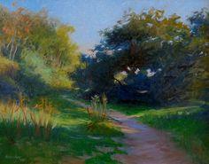 "Debra Holladay ""Shadows Eaton Canyon"" 16x20 Oil on Board"