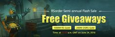 1000M Free rs 3 gold and 200m osrs gold giveaways are coming soon on http://www.rsorder.com/flash-sale