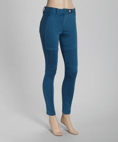 Loving this Blue Lattice Skinny Pants on #zulily! #zulilyfinds