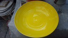 Yellow Stoneware Fruit Bowl
