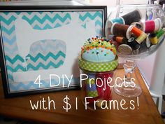 4 Simple DIY Projects with $1 Frames!