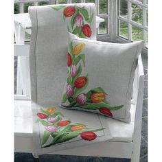 "Tulips Runner Counted Cross Stitch Kit-14""X44"""