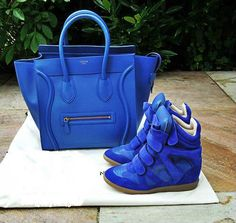 IWANT YOU. INEED YOU-MEEMAI Marant Bekett Basket Blue suede blue leather high-top sneaker with concealed wedge heel from http://www.isabelmarantsneakershopss.com/ $299.00