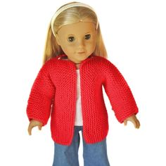 Beginner Knit Sweater for 18 inch Dolls Free Beginner Knit Sweater for 18 inch Dolls Knitting pattern by Doll Tag Clothing Knitting Dolls Clothes, Knitted Dolls, Doll Clothes Patterns, Clothing Patterns, Doll Patterns, Knitted Bags, Dress Patterns, Christmas Knitting Patterns, Sweater Knitting Patterns