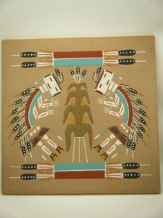 The Pollen Path Navajo sand painting