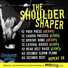 The Shoulder Shaper Workout #designerwhey #workout #fitness