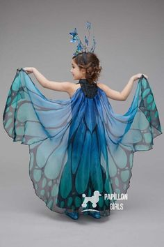 """""""Shop Chasing Fireflies for our Blue Butterfly Costume for Girls. Browse our online catalog for the best in unique children's costumes, clothing and more. Girls Butterfly Costume, Butterfly Dress, Blue Butterfly, Flower Costume, Bird Costume, Costume Dress, Costume Makeup, Blue Fairy Costume, Fairy Costume Kids"""