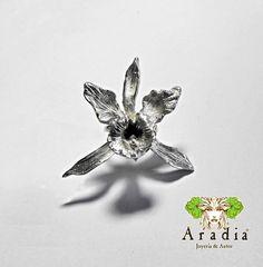 Anillo de orquidea en plata 925 por AradiaJoyeria en Etsy