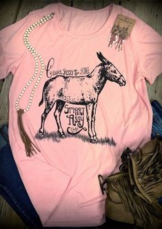 Classy, Sassy and a Bit Smart Assy Peach Scoop Tee with Smolder Print – Cheekys Brand Country Girls Outfits, Country Shirts, Vinyl Shirts, Western Wear, Western Chic, Cute Tshirts, Personalized T Shirts, Cute Outfits, Cowgirl Outfits