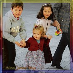 Infanta Leonor with her cousins Don Felipe and Dona Victoria Federica, the children of her paternal aunt Infanta Elena.