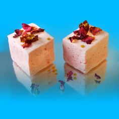 The Aphrodisiac Marshmallow - a rose, ginger and chili flavoured mallow by The Robin Collective and their Medicinal Marshmallows