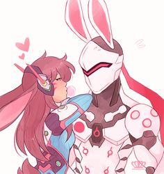 finished a doodle i had laying around for a while my bunny otp ~