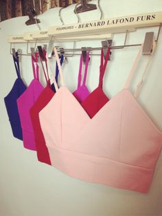 #CHOIES  PINK ZIPPER BACK SPAGHETTI STRAP V-NECK CROP TOP want all of them