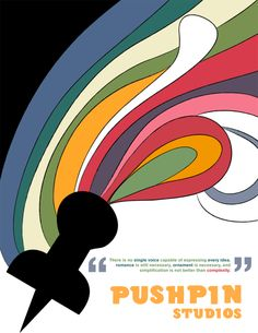 Puhs Pin poster by Push Pin Studios