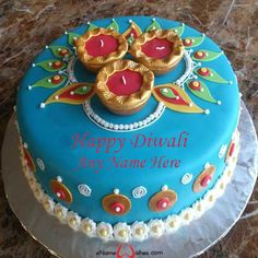 Write name on pictures by stylizing their names and captions by generating text on Write Name on Happy Diwali Cake with ease. Beautiful Cakes, Amazing Cakes, Good Evening Messages, Diwali Pooja, Happy Diwali Images, Cake Name, Diwali Wishes, Cupcake Cookies, Cupcakes