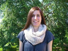 ON SALE 9/16  Crocheted Beige infinity scarf by ACCrochet on Etsy, $18.00
