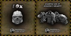 New release today: Assassins helmets https://puppetswar.eu/product.php?id_product=723