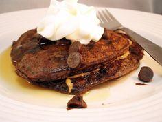 Gluten Free Chocolate Chocolate Chip Pancakes!!! Yumm