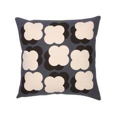 Orla Kiely - Shadow Flower Cushion 40x40cm - Slate & Green