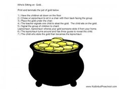Who is Sitting on the Gold Circle Game (St Patrick's Day)