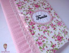 Capa para Álbum de Fotos. Loja: www.elo7.com.br/chiquetosa