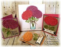 FunStamper.com    Stampin Up; Thoughtful Branches bundle; Beautiful Branches framelits