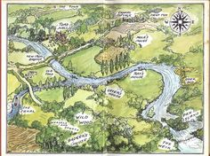 Wind in the Willows map