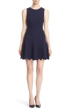 Alice + Olivia 'Paulie' Fit & Flare Knit Dress available at #Nordstrom