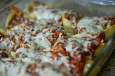 Baked Stuffed Shells – pasta shells stuffed with a combination of ricotta, parmesan and mozzarella cheeses, topped with a meat sauce and more mozzarella. Stuffed pasta shells will never get old.I baked this today, but can't finish the post tonight because I can't keep my eyes open. Will finish it up tomorrow.Ok, maybe I wouldn't... Read More »