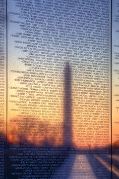 Vietnam Veterans Memorial Wall, Washington DC designed by Maya Lin