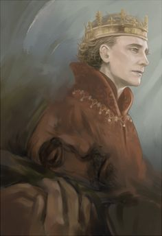 Tom Hiddleston as Henry V in The Hollow Crown (BBC). I realized afterwards that Jeremy Irons looks sort of creepy here. Tom Hiddleston Quotes, Tom Hiddleston Loki, Shakespeare History, Crown Painting, Loki Whispers, The Hollow Crown, Avengers Art, Plantagenet, Art