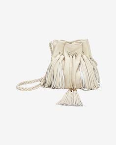 Sara Battaglia Jasmine Fringe Bucket Bag